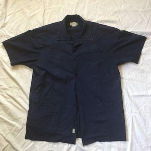 XL Trader Bay Navy Button up Shirt
